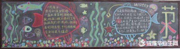 高中节约用水黑板报
