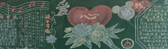关于爱心助残黑板报