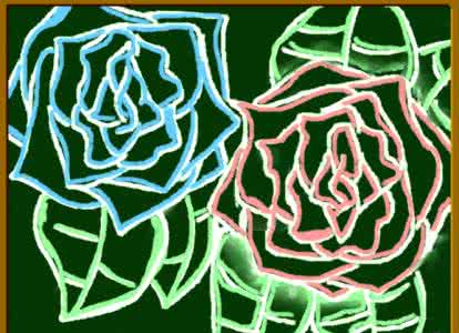 玫瑰花的黑板报