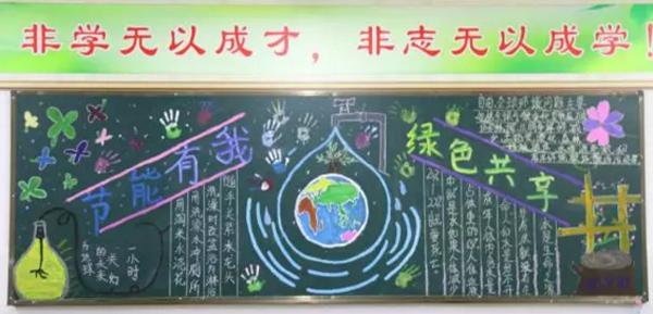 校园节能环保黑板报